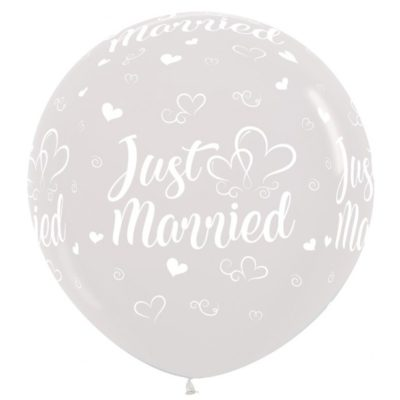 grote heliumballon just married