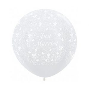 reuzen helium ballon just married
