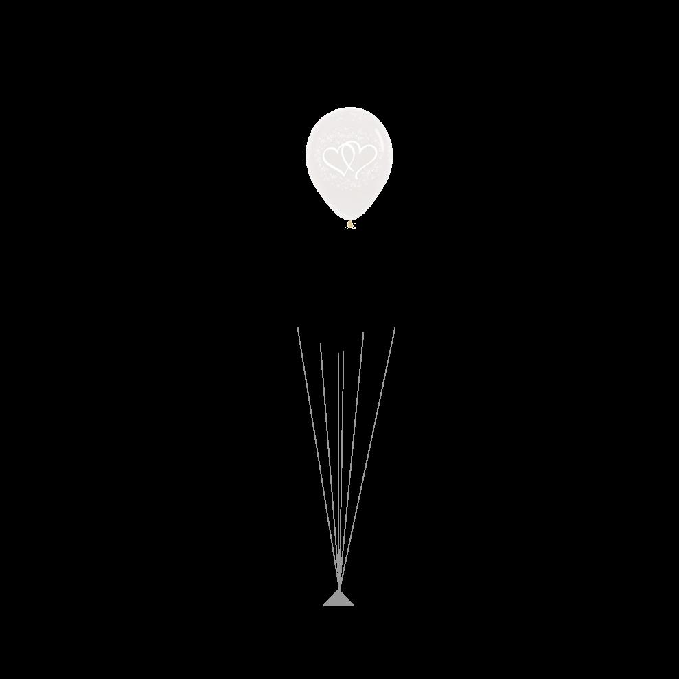 Pearl white hartjes