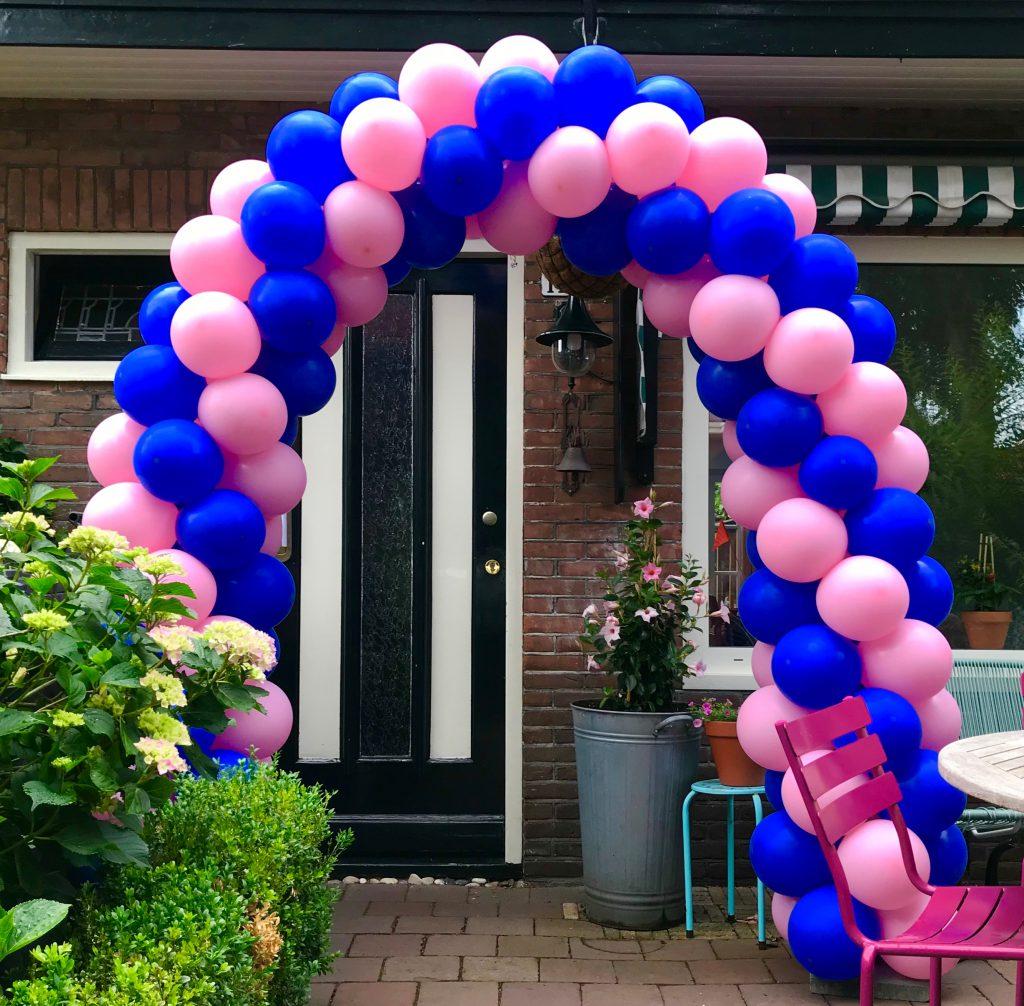ballonnenboog voor een enkele deur