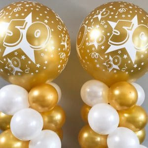 ballonnenpilaar goud 50 jaar