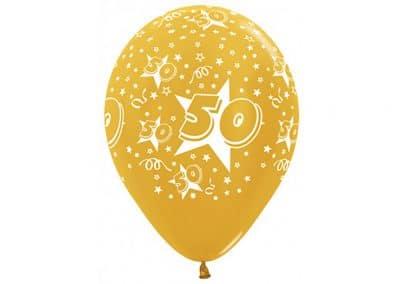 heliumballon goud 50