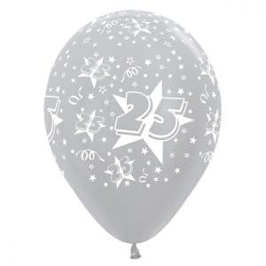 heliumballon zilver 25
