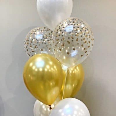 helium ballontrosje met confetti print