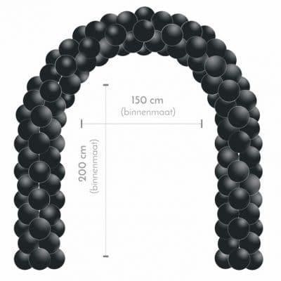 zwarte ballonnenboog