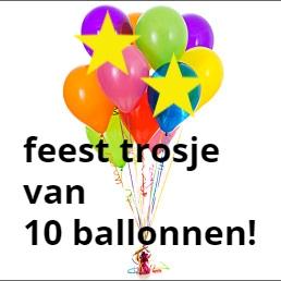 tros van 10 heliumballonnen