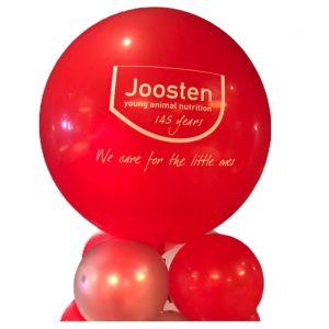 ballonnenpilaar bedrukt met logo
