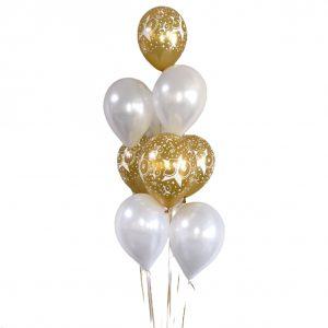 heliumballon trosje goud 50 jaar