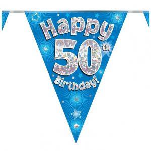 50 jaar vlaggenlijn blauw