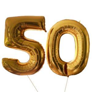 cijfer ballonnen XL 50