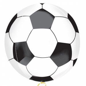voetbal folieballon rond 41cm