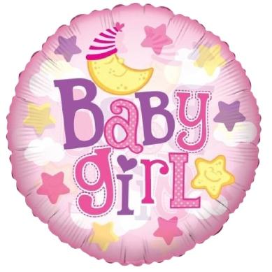 baby girl ballon roze
