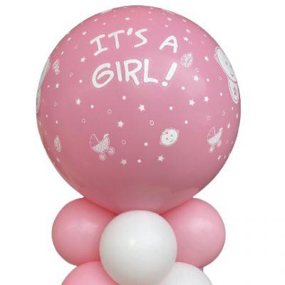 ballonpilaar geboorte meisje