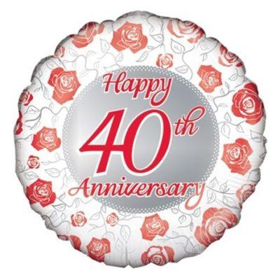 folieballon 40 jaar jubileum