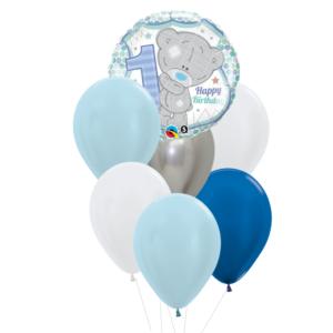 1 jaar heliumballon trosje jongen