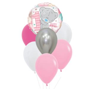 1 jaar heliumballon trosje meisje