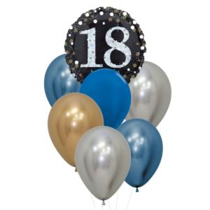18 jaar heliumballon trosje man