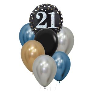 21 jaar heliumballon trosje man
