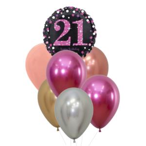 21 jaar heliumballon trosje vrouw