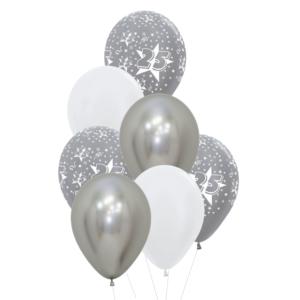 25 jaar heliumballon trosje