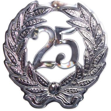25 jaar zilveren 3d schild