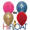 4 x heliumballon + langere zweefduur