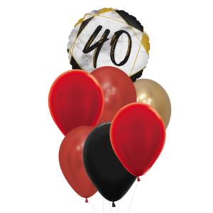 40 jaar heliumballon trosje