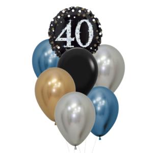 40 jaar heliumballon trosje man