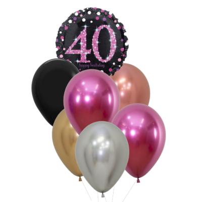 40 jaar heliumballon trosje vrouw