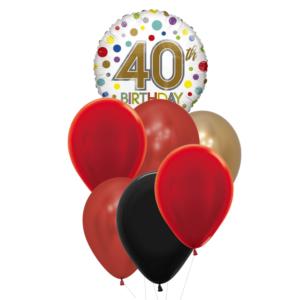 40 verjaardag heliumballon trosje