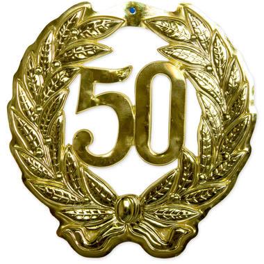 50 jaar gouden 3d schild