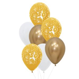 50 jaar heliumballon trosje
