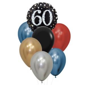 60 jaar heliumballon trosje man