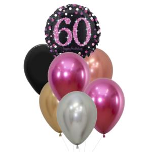 60 jaar heliumballon trosje vrouw