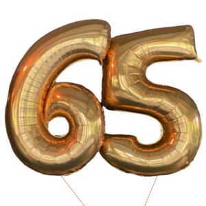 cijfer ballonnen 65 jaar