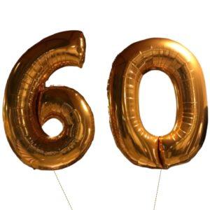 cijfer ballonnen 60 jaar XL