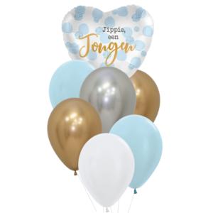 geboorte jongen heliumballon trosje