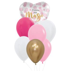 geboorte meisje heliumballon trosje