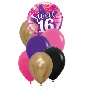 sweet sixteen heliumballon trosje